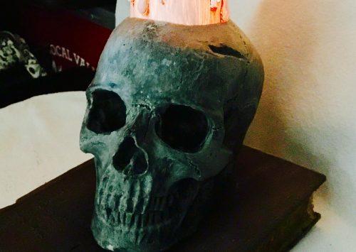 Candlelit Skull & Book Make & Take